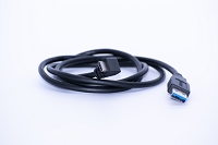 Cable 90 degrees USB-C to USB-A 1.1M (3,6 Ft)  Black