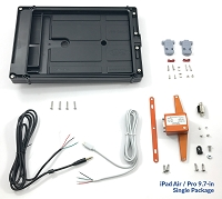iFDR Panel Mount and Power Supply Package for Apple iPad Air 1, Air 2, Pro 9.7-in, and iPad (2017)