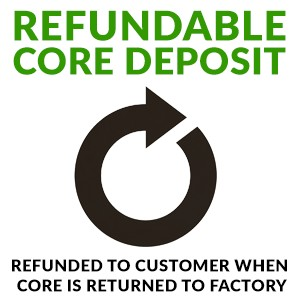$300 Refundable Core Deposit for Replacement/Remanufactured Units
